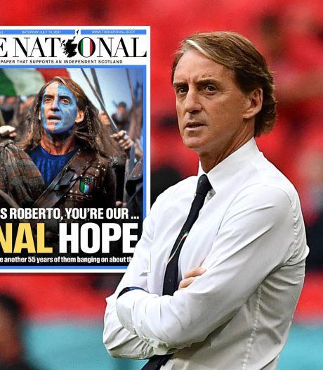 Schotten smeken Mancini en Italië: 'Red ons, we kunnen dit niet wéér 55 jaar aanhoren'