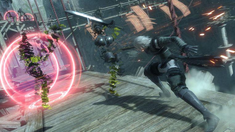 Zwaarden en magische krachten zijn de meest gebruikte wapens in NieR Replicant. Beeld Square Enix