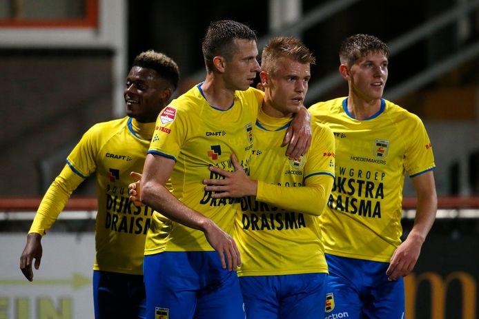 Robert Mühren (links) en Jamie Jacobs (rechts); de steunpilaren van Cambuur dit seizoen.