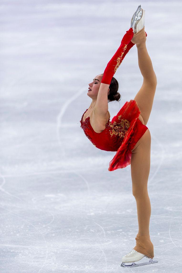 ► De kür van Alina Zagitova is goed voor 239,57 punten en een gouden medaille. Beeld Photo News