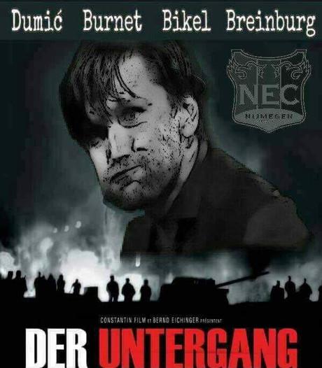 Ophef over filmposters NEC: gaat de ploeg ten onder of wreekt ze zich?