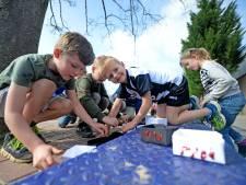 Leerlingen Stedeke in Diepenheim vieren de zon op eerste dag van de lente