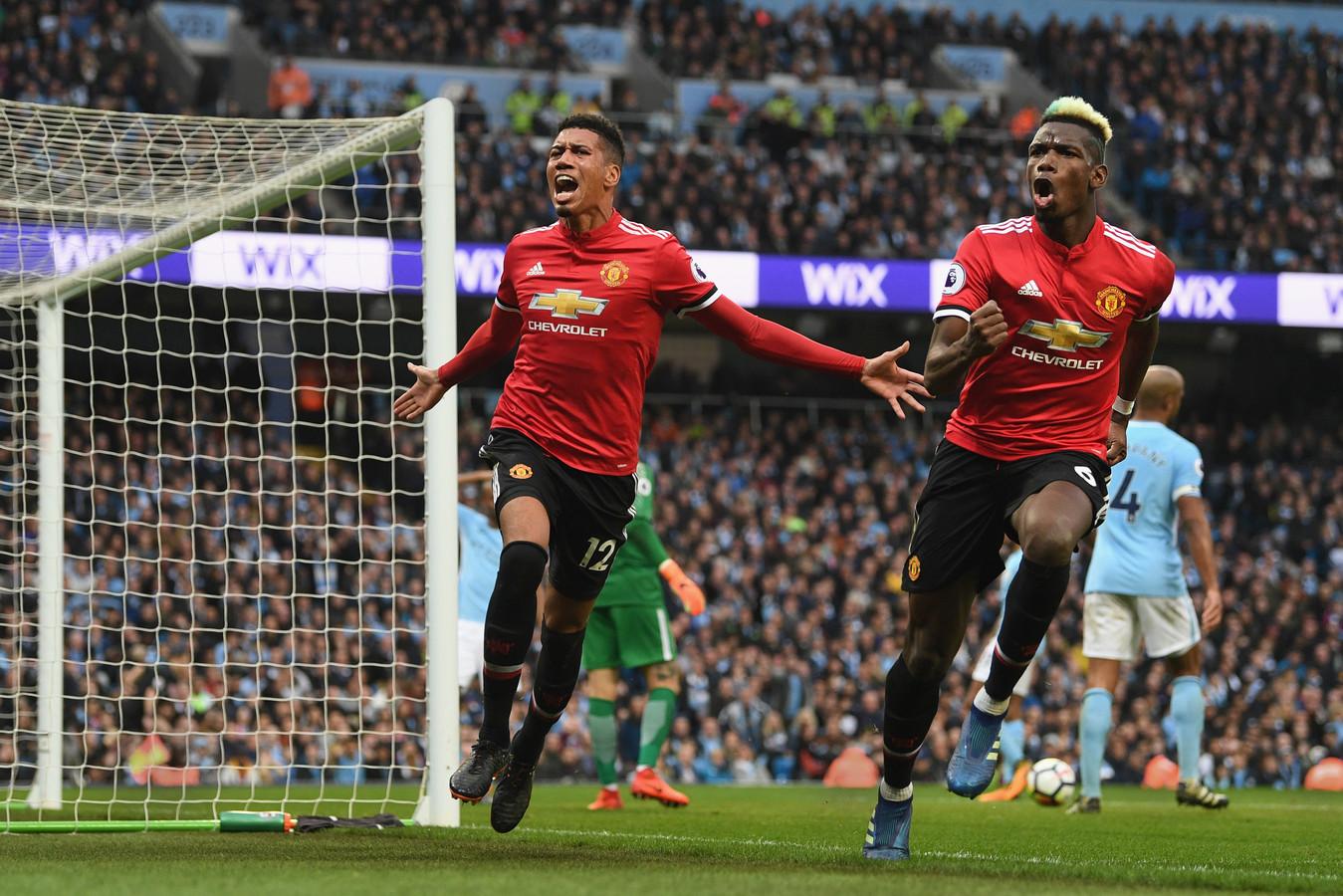Manchester United won op 7 april 2018 met 2-3 bij Manchester City, dat daardoor het titelfeest een week moest uitstellen.