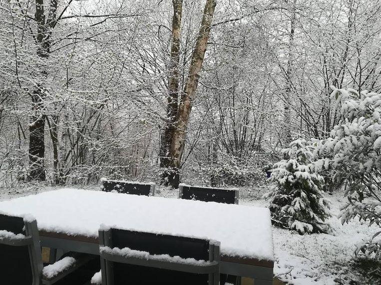 Afgelopen weekend viel er in de Ardennen (Vielsalm) nog sneeuw.