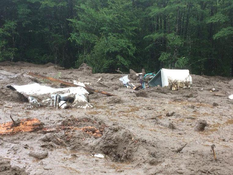 De voorbije 24 uur kreeg het dorpje af te rekenen met bijzonder veel regen.