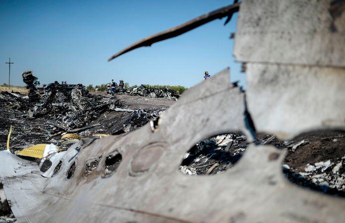 Archiefbeeld, de vlucht MH17 stortte neer in 2014.