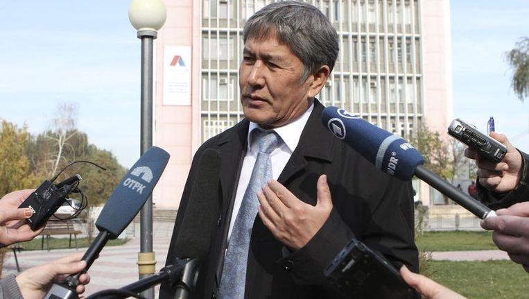 De nieuwe president van Kirgizië Atambajev. Beeld REUTERS