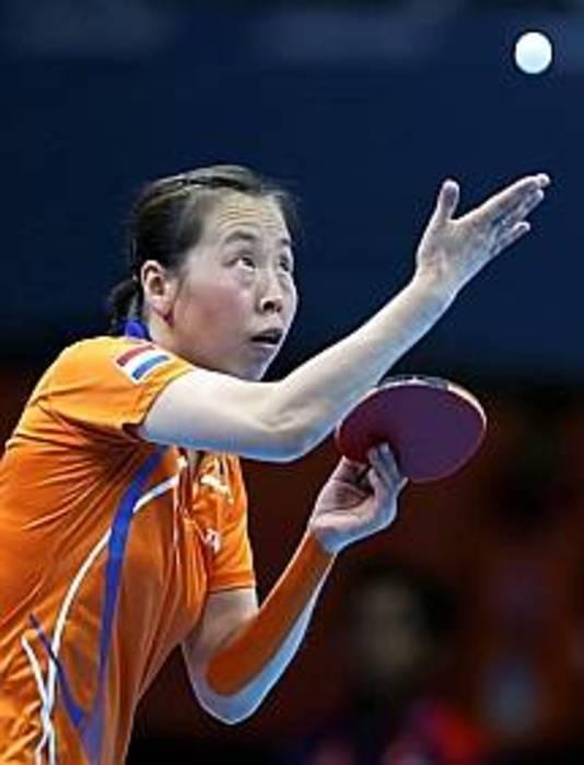 Li Jiao in actie op de Olympische Spelen in 2012.