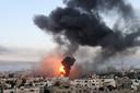 Een Israëlische luchtaanval op Gaza.
