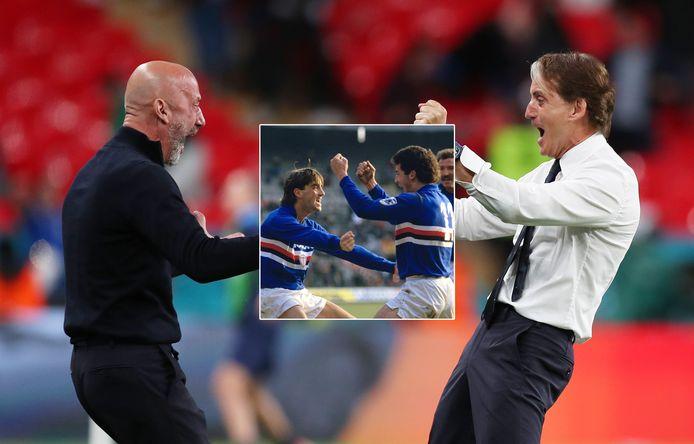 Gianluca Vialli en Roberto Mancini
