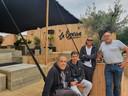 Ugur Akkus, Marc Reijntjes, Alain Geuns en Ugur Akkus openen donderdag hun gloednieuwe zomerbar La Brassa.