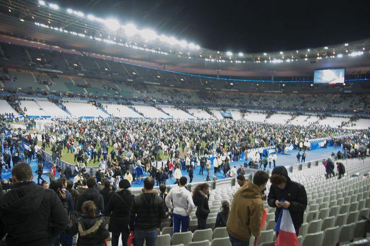 Stade de France kort na de aanslagen. Beeld photo_news
