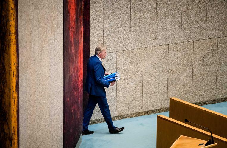Minister Martin van Rijn voor Medische Zorg tijdens een Kamerdebat. Beeld ANP