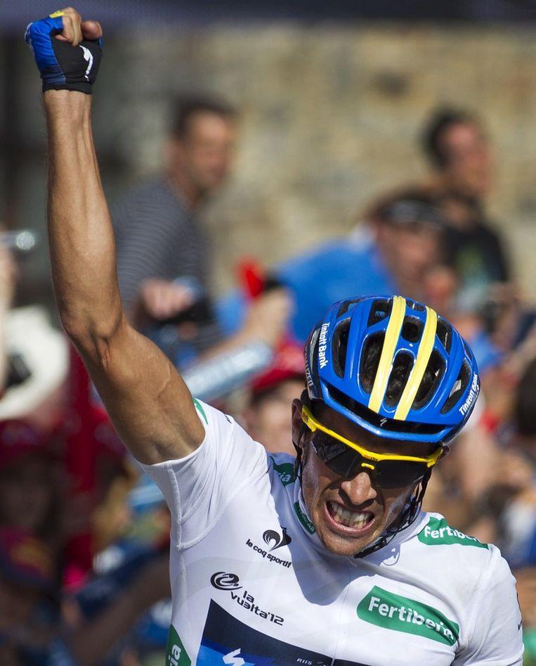 Contador begon zijn strooptocht op goed 40km van de meet Beeld AFP