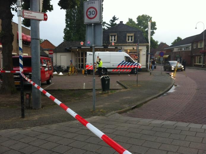 De politie had de omgeving van de Carrousel in Uden volledig afgezet.