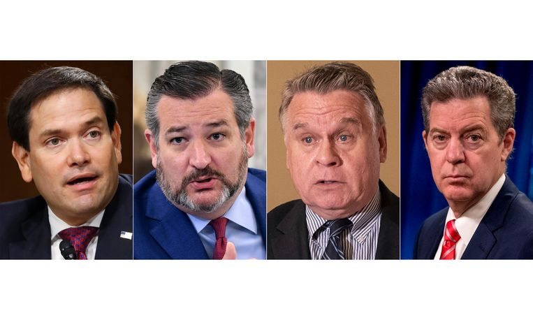 Marco Rubio, Ted Cruz, Chris Smith en Sam Brownback worden geviseerd door de Chinese overheid