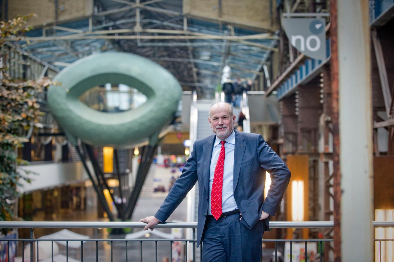"""John van der Vegt, bestuursvoorzitter ROC van Twente.  """"Deze subsidie is uitzonderlijk. Een mooie erkenning voor ons, maar ook voor heel Twente."""""""