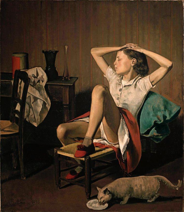'Thérèse Dreaming' van Balthus. Beeld RV