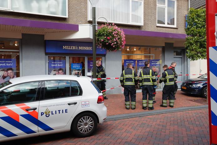 Dodelijk ongeval in een winkel aan de Langstraat in Geldrop.