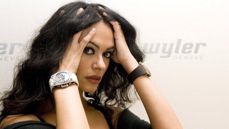 Actrice Maria Grazia Cucinotta de gastvrouw van het filmfestival in Venetië. Foto EPA Beeld