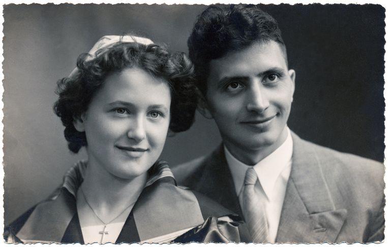 Marijse Blommé en Vic Mertens in hun jonge jaren.
