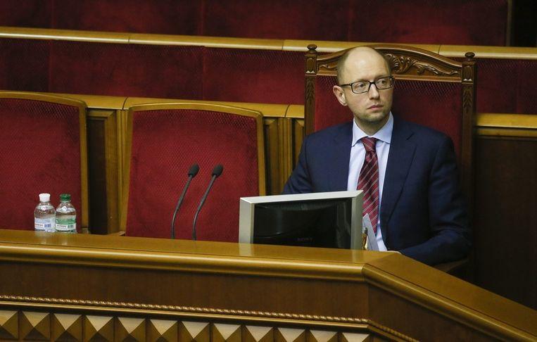 Dat is 'm! De nieuwe interim-premier van Oekraïne. Beeld epa