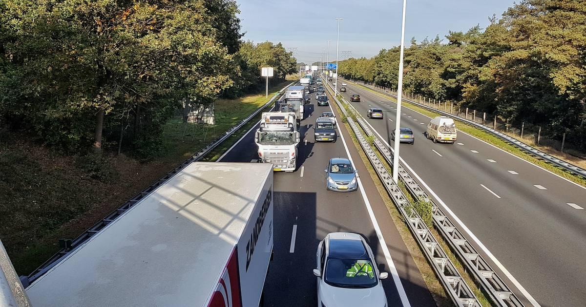 Ongeluk met meerdere autos op A58 bij Oirschot.
