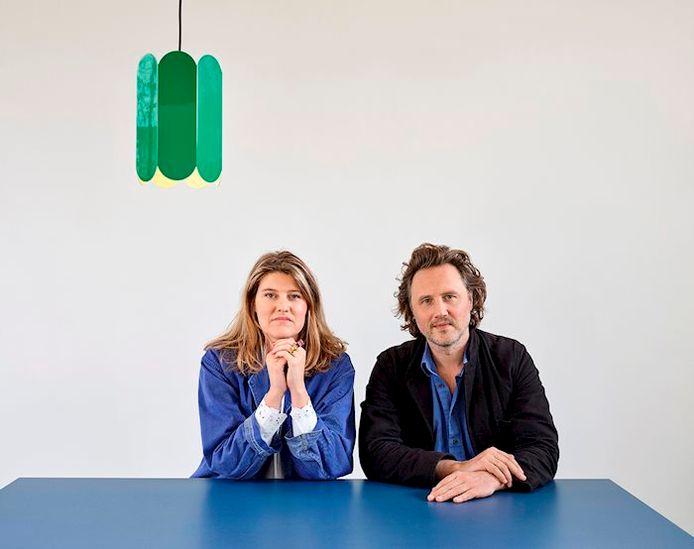 Het Belgisch designerduo Fien Muller en Hannes Van Severen.