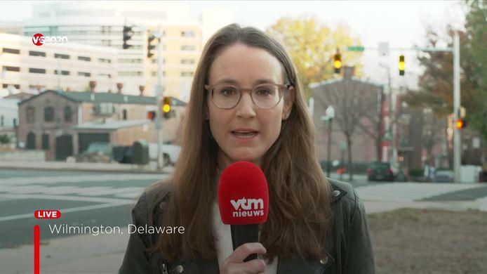 VTM-correspondente Romina Van Camp in de VS.