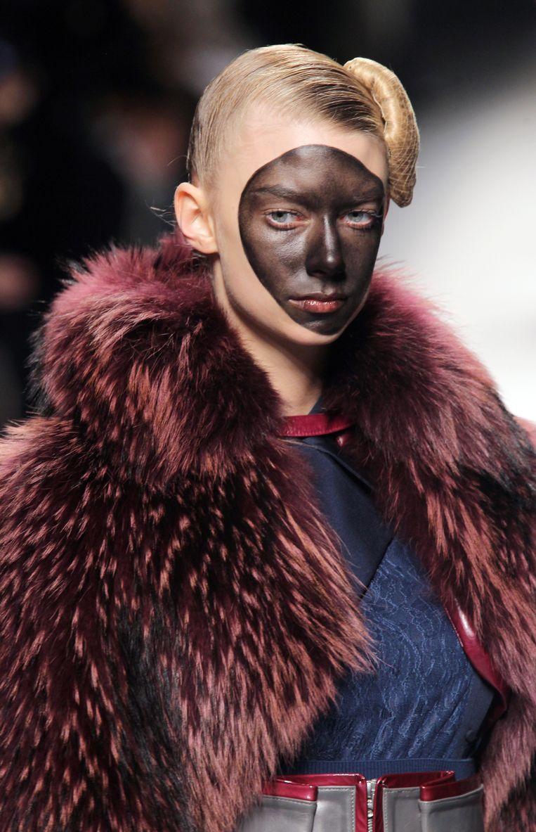 De ultieme, controversieelste cultural appropriation in de VS: een zwart geschminkt gezicht. Beeld AFP
