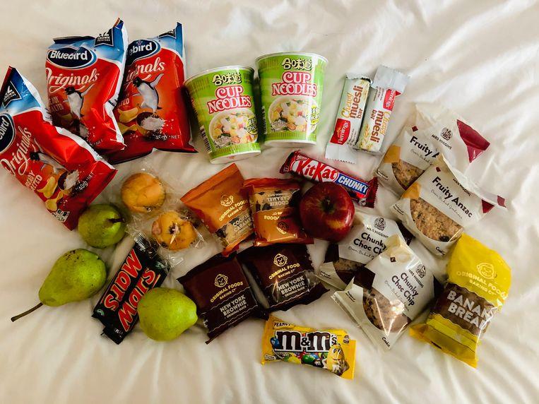 Aan snacks geen gebrek. Beeld Sabine De Vos