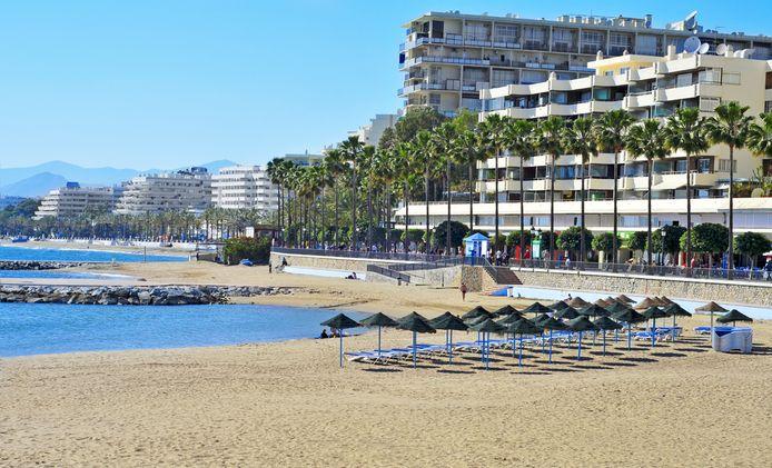 De badplaats Marbella aan de Costa de Sol, in Spanje.