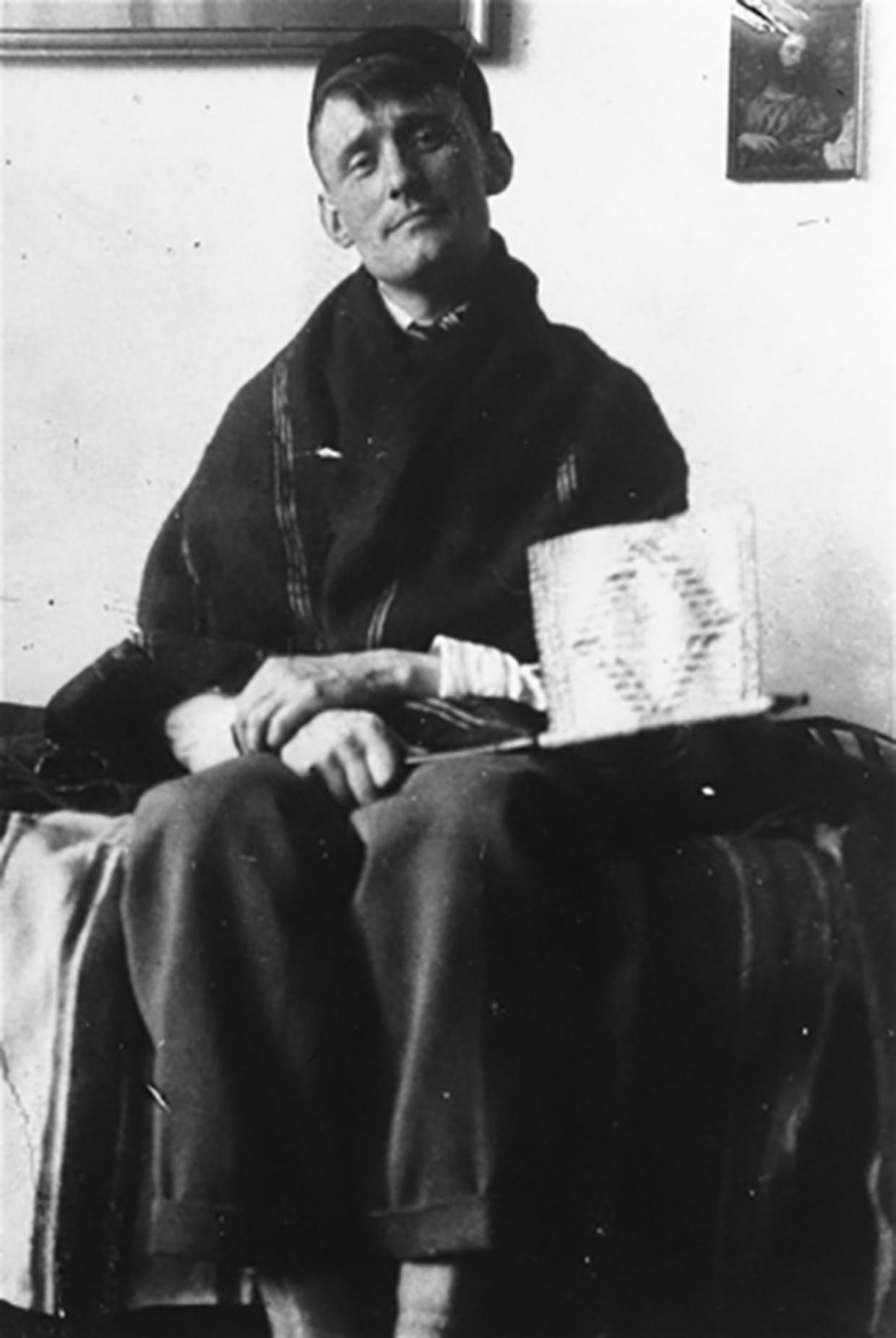Willem Arondeus op Urk, circa 1921. Beeld