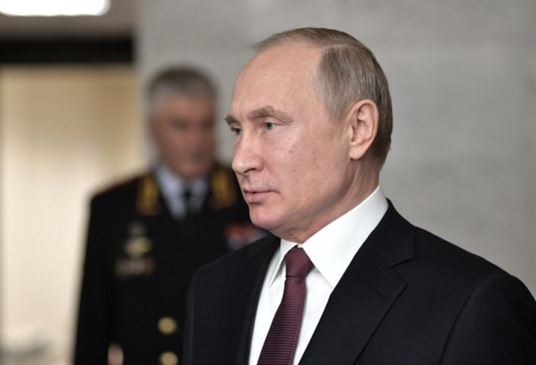 Russian President Putin addresses the media after a meeting of the Interior Ministry Board in Moscow Beeld REUTERS