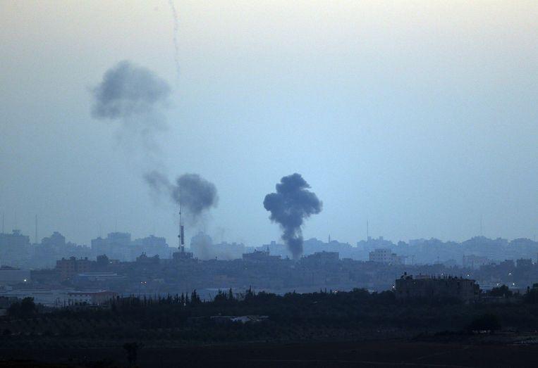 Israël valt de Gazastrook vanuit de lucht aan Beeld ap