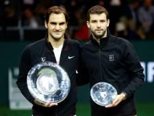 Recordbreker Federer pakt zijn derde zege in Ahoy