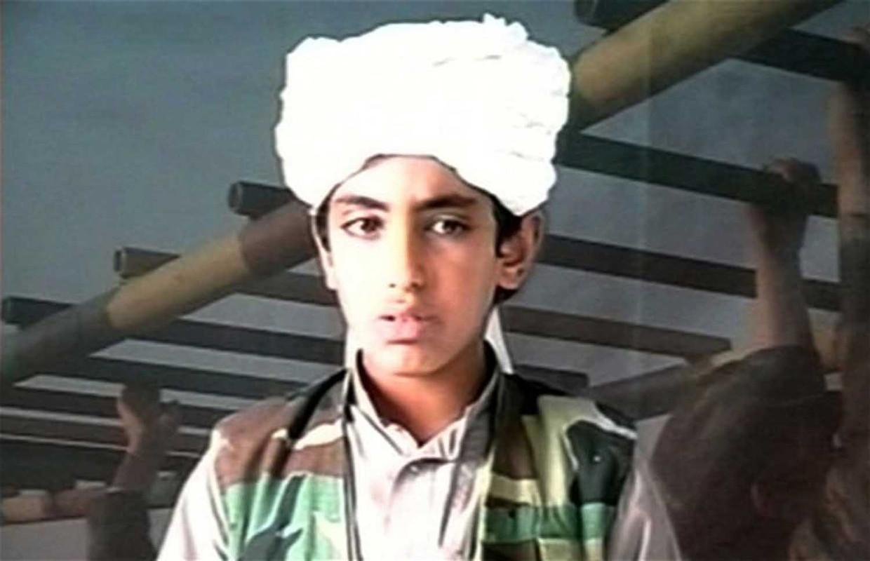 Hamza bin Laden in een Al Qaida-video. Beeld Getty Images