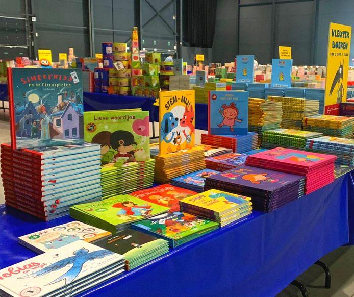 Boekenoutlet in Antwerp Expo.