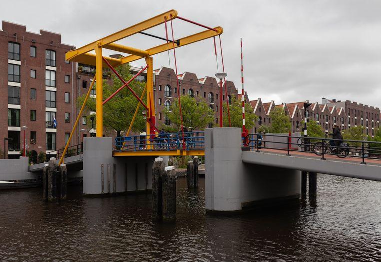 De Nijlpaardenbrug bij het Entrepotdok. Beeld Nina Schollaardt
