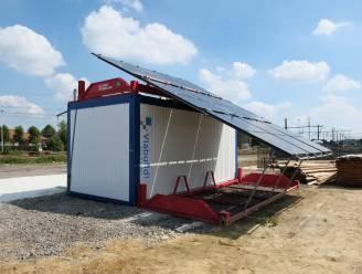 Aannemer Fietsostrade komt met groene primeur: zonnepanelen voorzien hele werfzone van energie