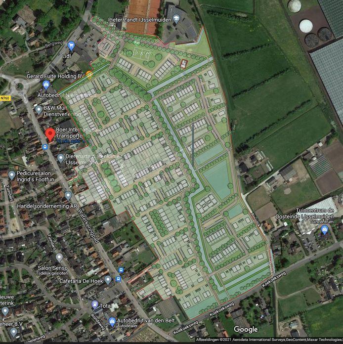 Tientallen woningen in het nieuwe 'plan Fuite' liggen binnen een straal van 50 meter van transportbedrijf Boer.