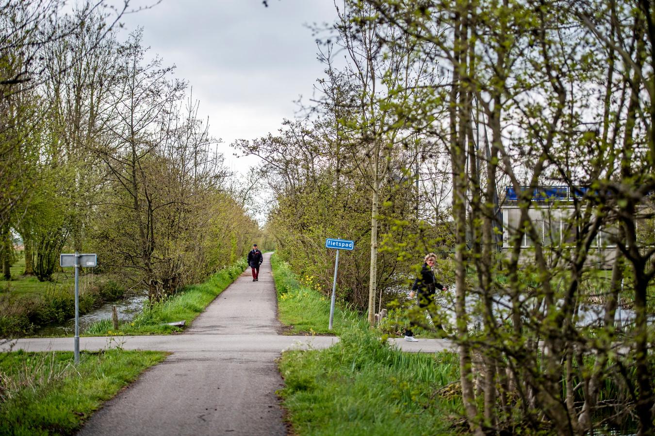 Het Hitlandbos waar de Capellenaar zijn slachtoffers zocht.