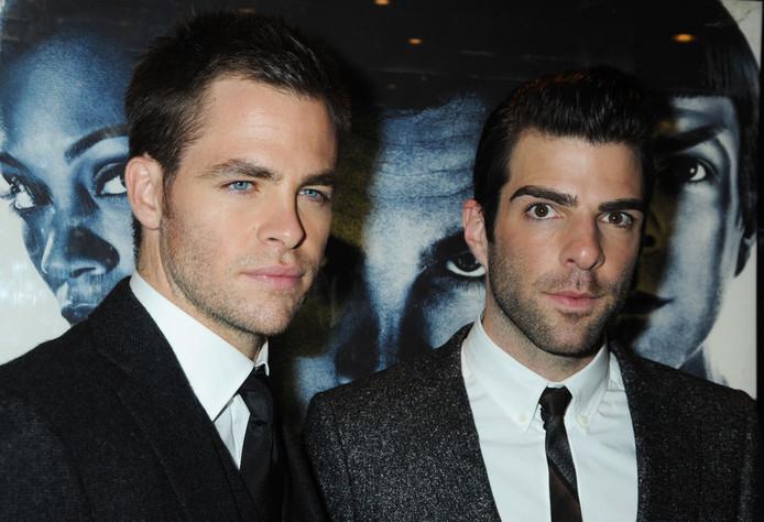 Chris Pine (Capitaine Kirk) et Zachary Quinto (Mr Spock), les acteurs du film sorti en 2009.