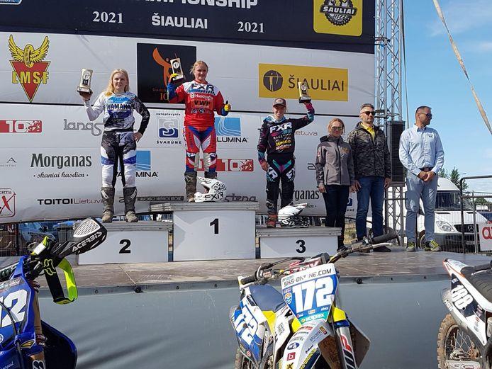 Shana van der Vlist werd knap derde in de GP van Litouwen.