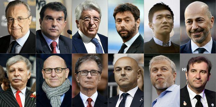 De initiatiefnemers van de Super League.