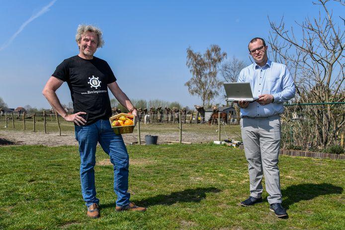 Hans Demeyer en Stefaan Joos zijn de krachten achter de website. De gemeente wil deze nu samen met hen versterken.