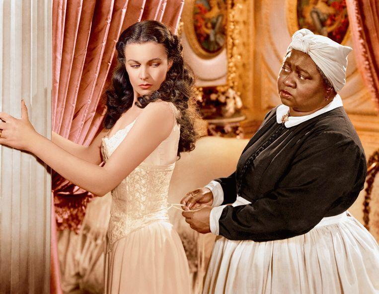 Vivien Leigh (l) en Hattie McDaniel wonnen beiden een Oscar voor hun rol in 'Gone with the Wind'.