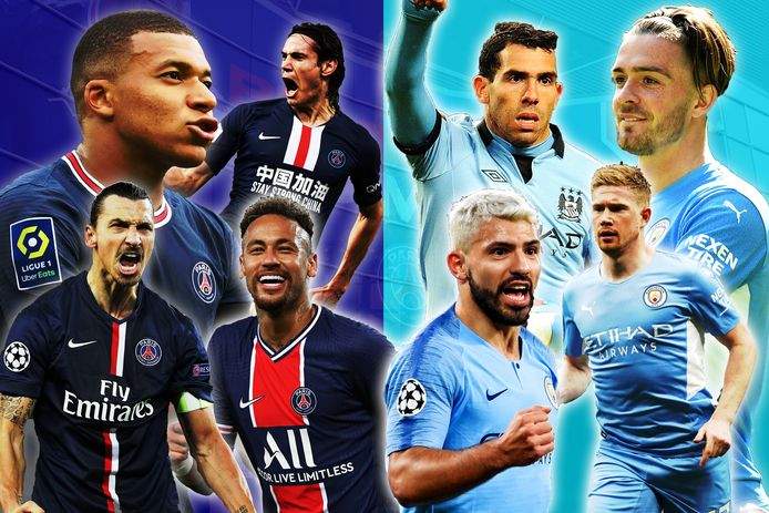 Kylian Mbappé, Zlatan Ibrahimovic, Edinson Cavani, Neymar, Sergio Agüero, Carlos Tevez, Kevin De Bruyne en Jack Grealish: allemaal spelers die dankzij de overnames naar PSG en Manchester City kwamen.