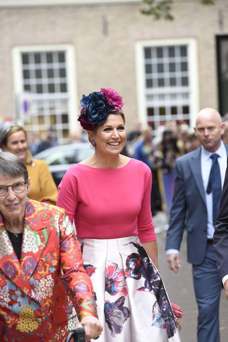 Koningin Máxima kleedt zich à la Frida Kahlo Beeld BrunoPress/Patrick van Emst