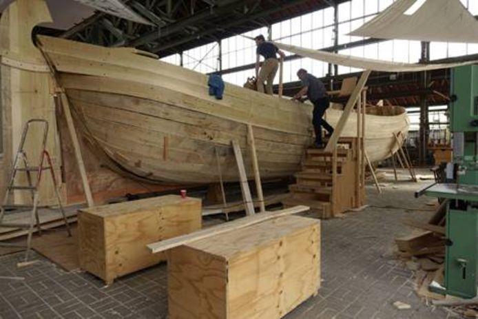 Het schip van kunstenaar Edward Clydesdale Thomson.